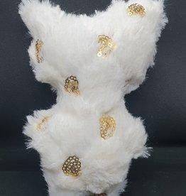 seazido - wevyra geluk en bescherming poppetje middel groot (gouden cirkeltjes-wit)