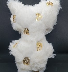 seazido - wevyra luck an protection doll medium size (gold cirkels - white )