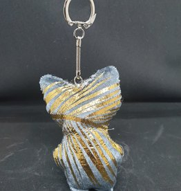 seazido - wevyra luck an protection doll keychain  (gold- blue)