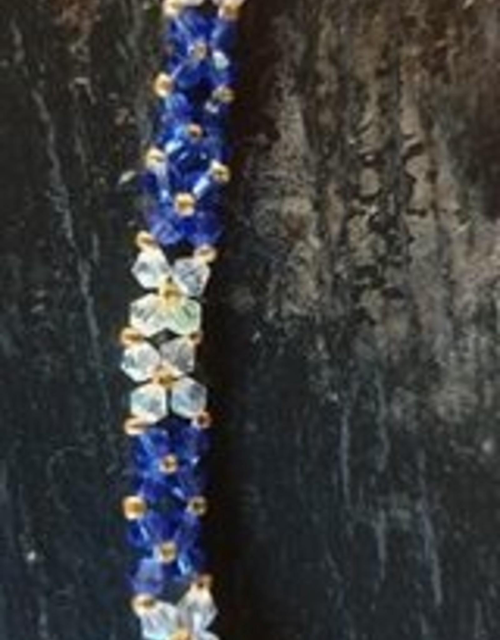 seazido - wevyra Swarovski Blue Flower Necklace