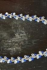 seazido - wevyra swarovski ketting Blauw s-vormig