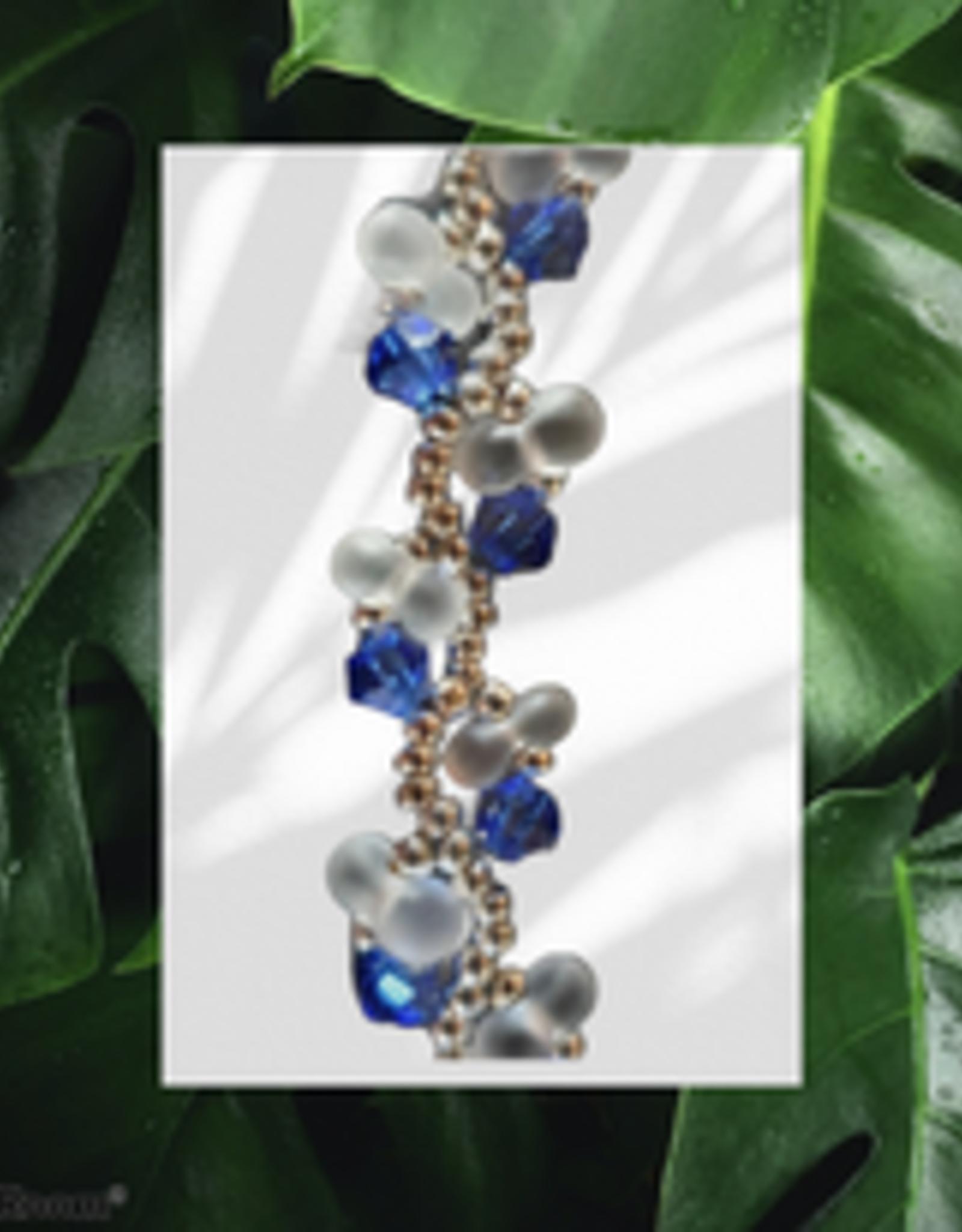 seazido - wevyra Swarovski necklace Blue s-shape