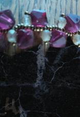seazido - wevyra swarovski paarse tint 8mm met wit
