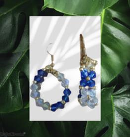 seazido - wevyra swarovski earring blue white