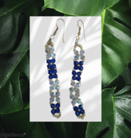 seazido - wevyra swarovski earrings pendant blue white