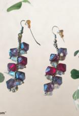 seazido - wevyra swarovski earrings purple - ruby red