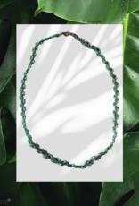 seazido - wevyra swarovski ketting groen - wit met koper doorloop