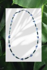 seazido - wevyra necklace - golden triangle with seraphinite