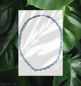 seazido - wevyra halsketting in  glaskralen wit
