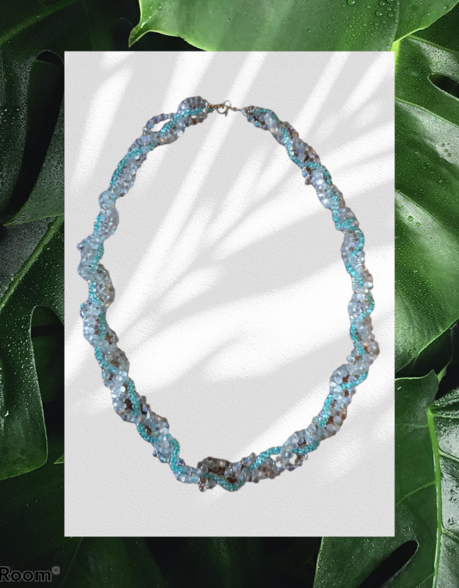seazido - wevyra necklace in beautiful glass beads