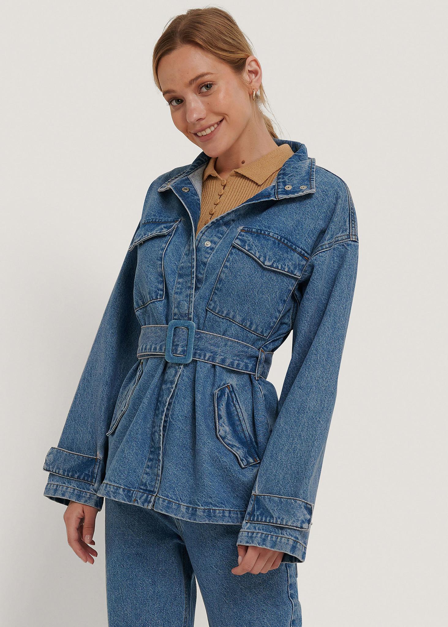 Belted Oversized Denim Jacket-1