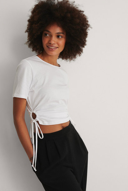 Cut Out Cropped Detail T-shirt