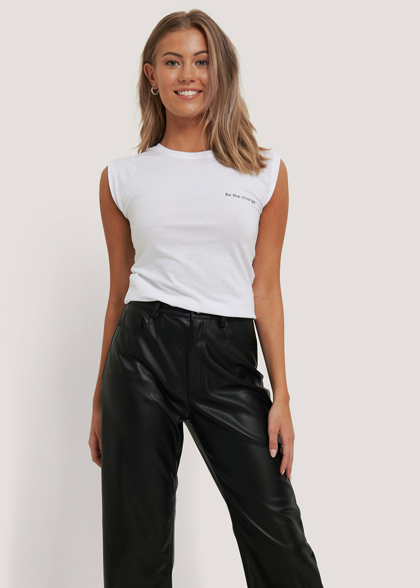 Cap Sleeve Fitted Jersey Top-1