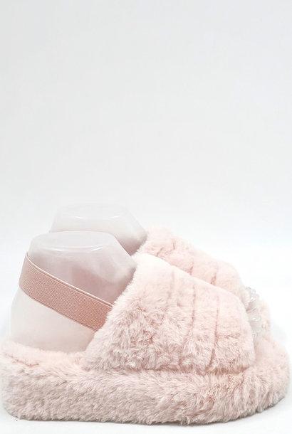 Fluffy Slippers Roze