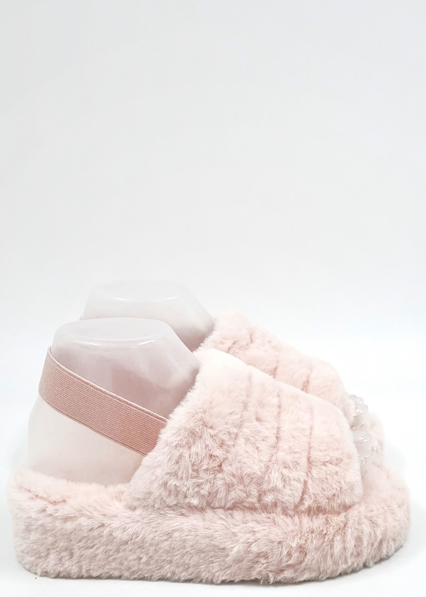 Fluffy Slippers Roze-1