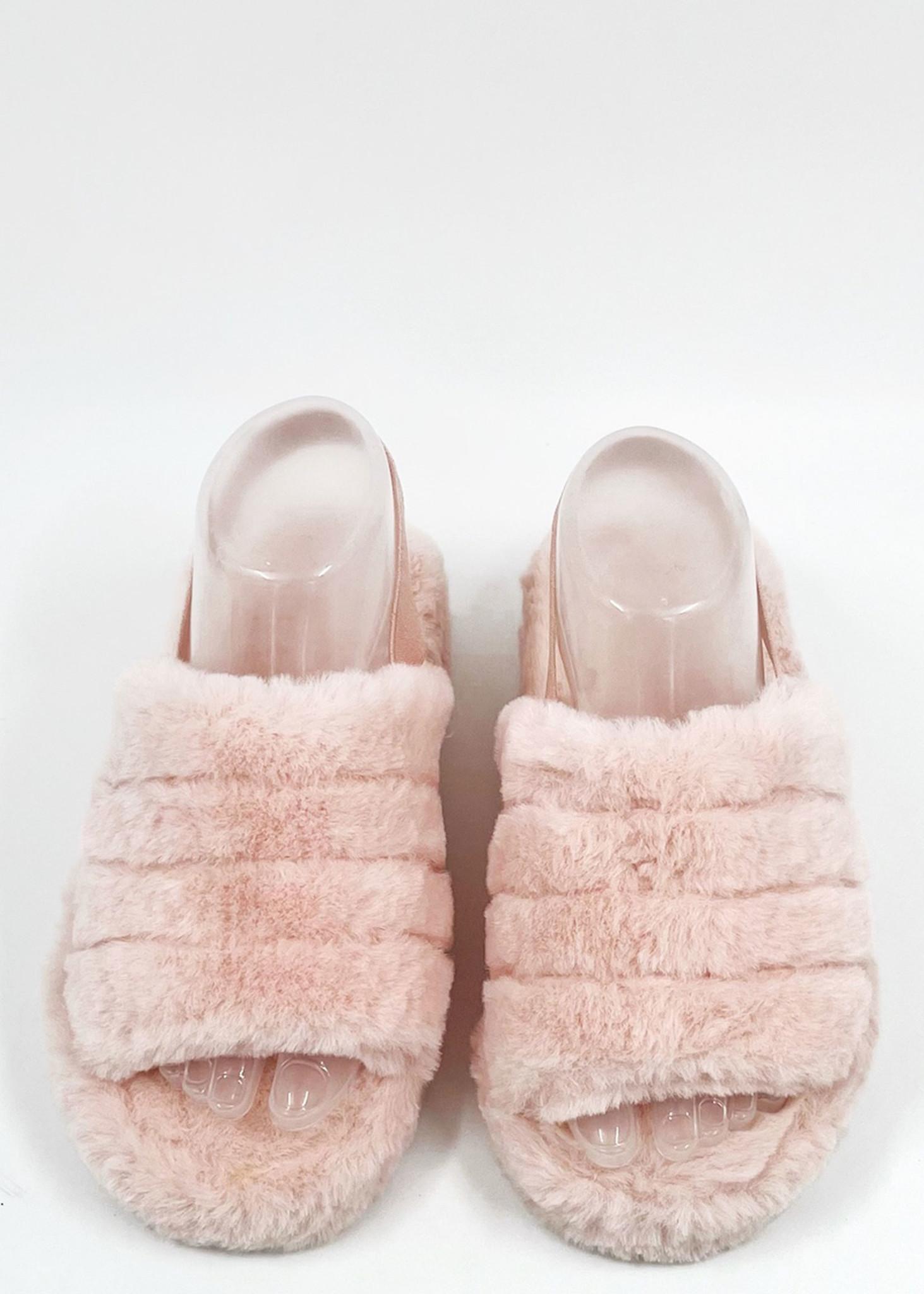 Fluffy Slippers Roze-2