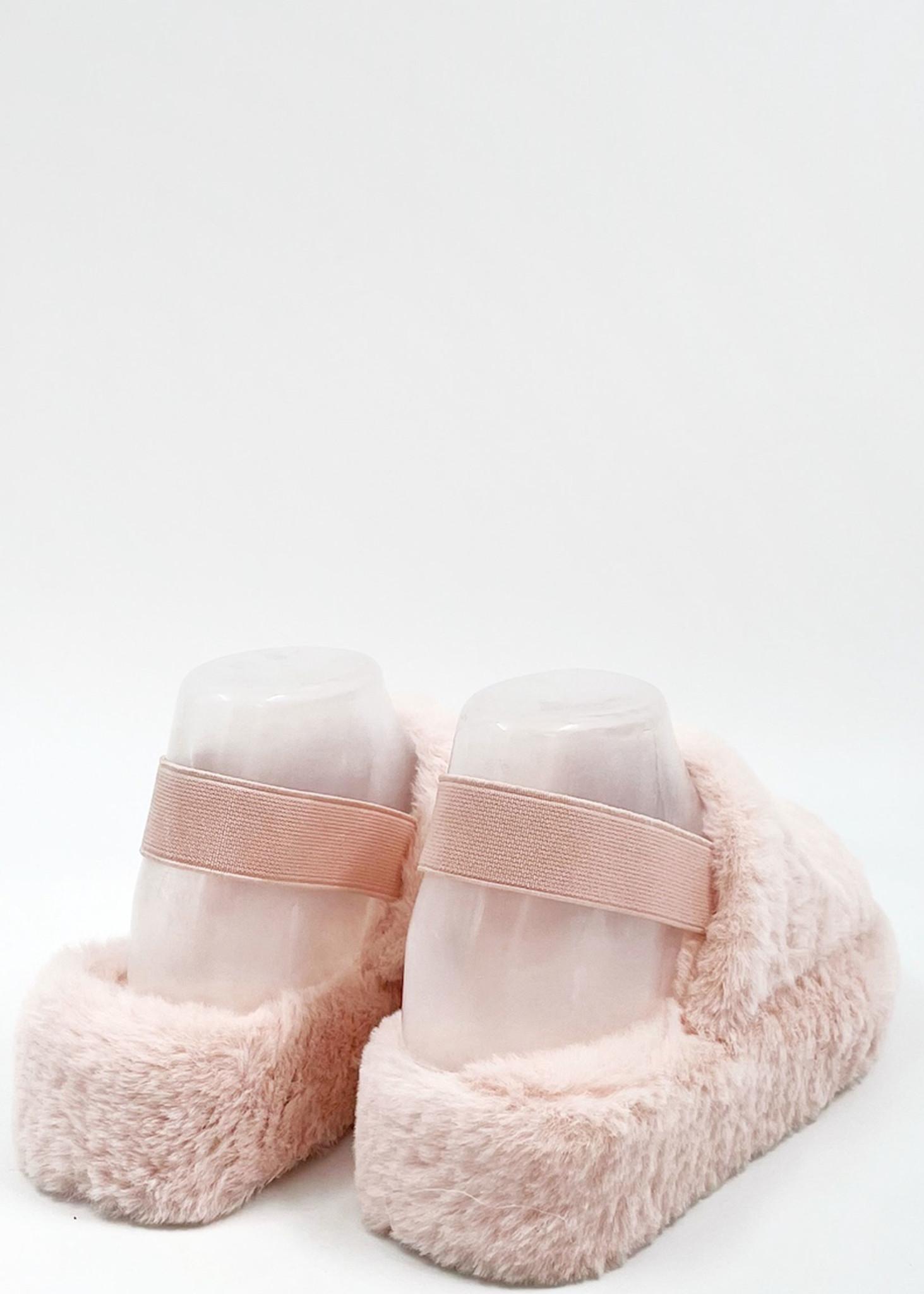 Fluffy Slippers Roze-3