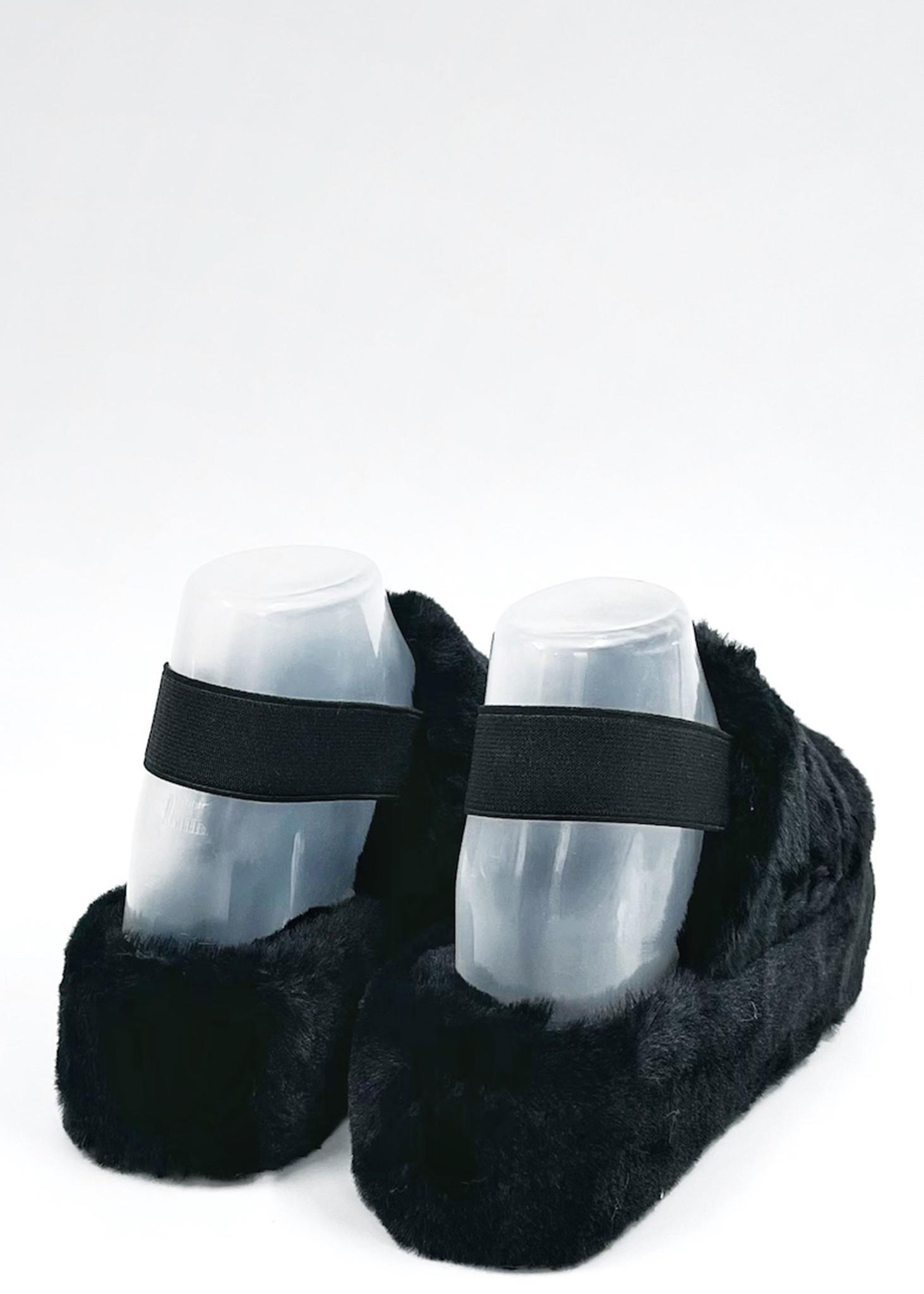 Fluffy Slippers Zwart-3
