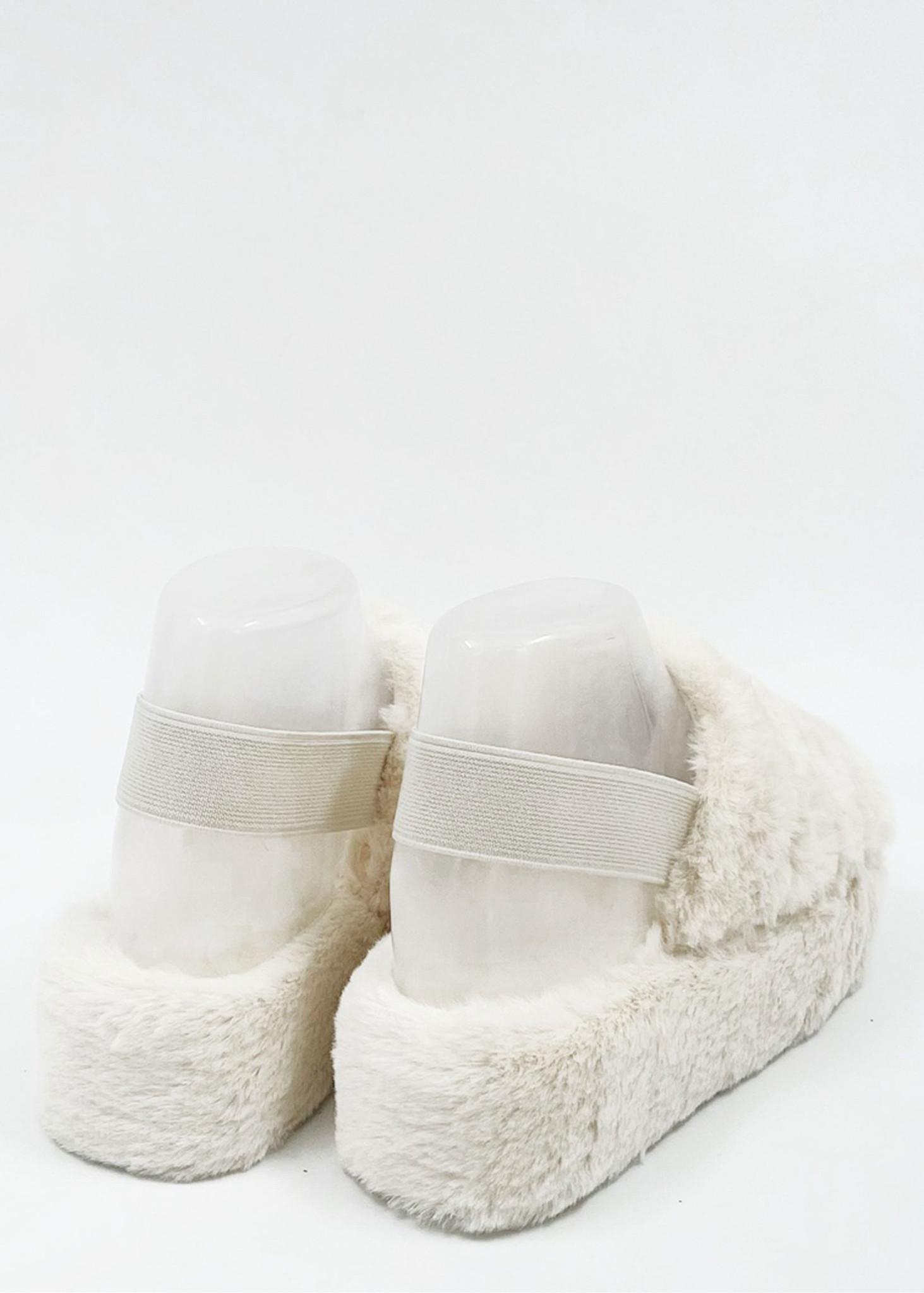 Fluffy Slippers Ecru-3
