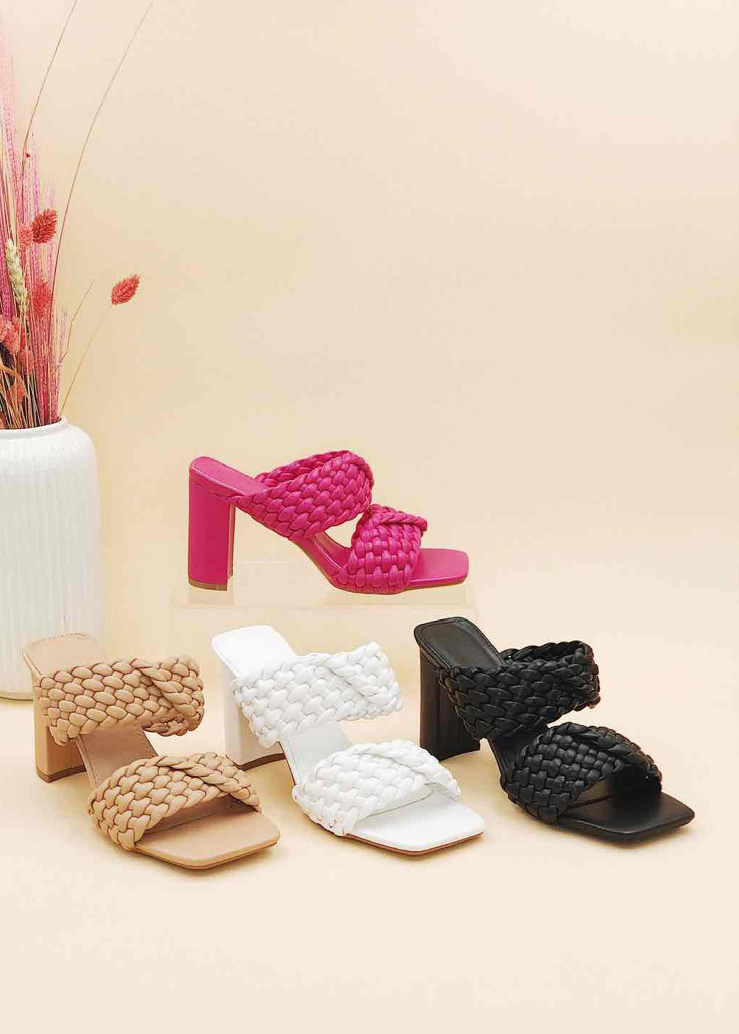 Sandaal Met Hak Zwart-1