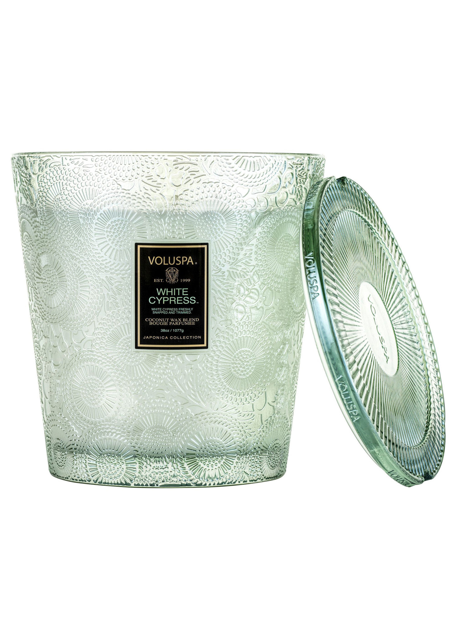 White Cypress 3 Wick Hearth Candle-1