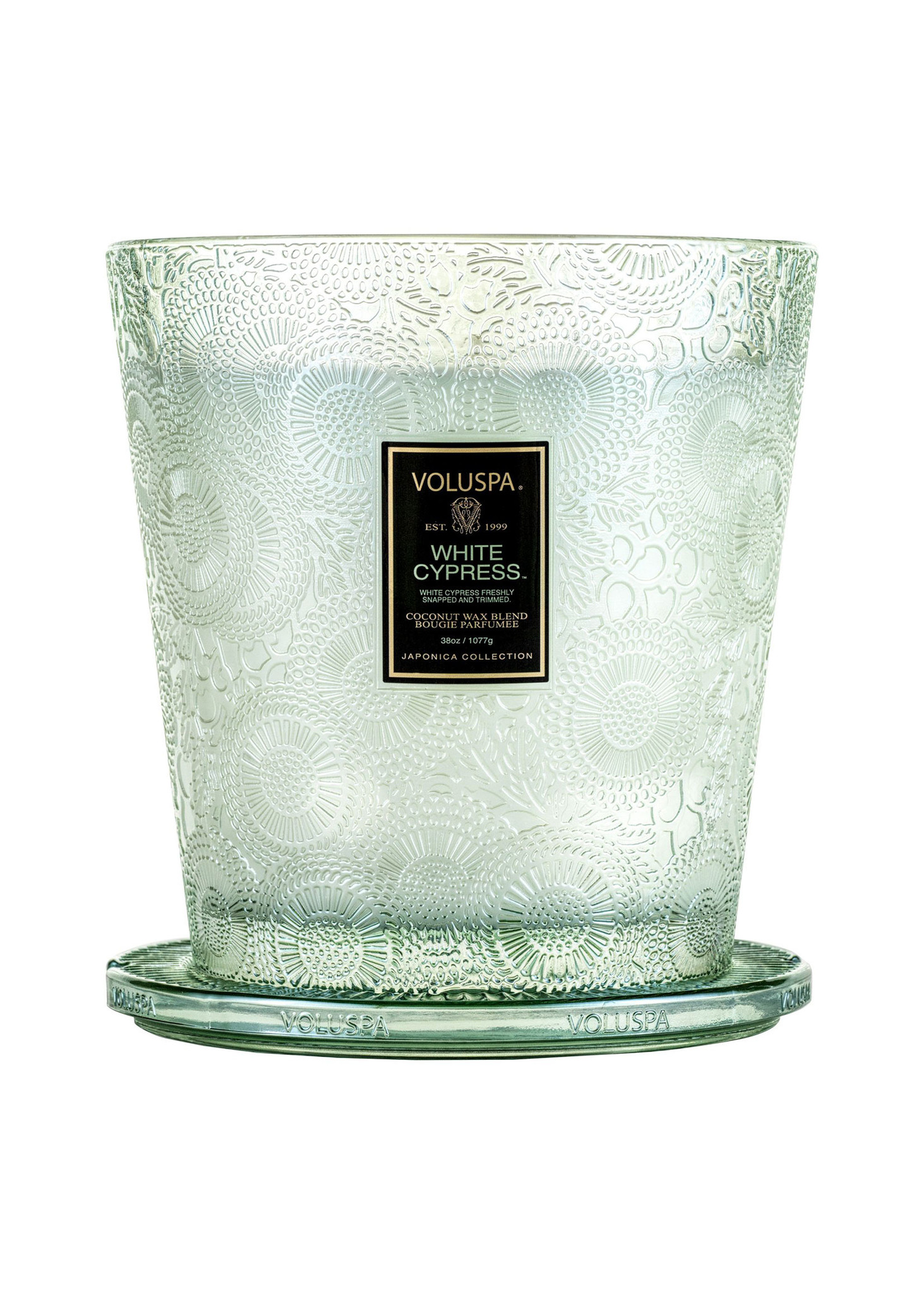 White Cypress 3 Wick Hearth Candle-2