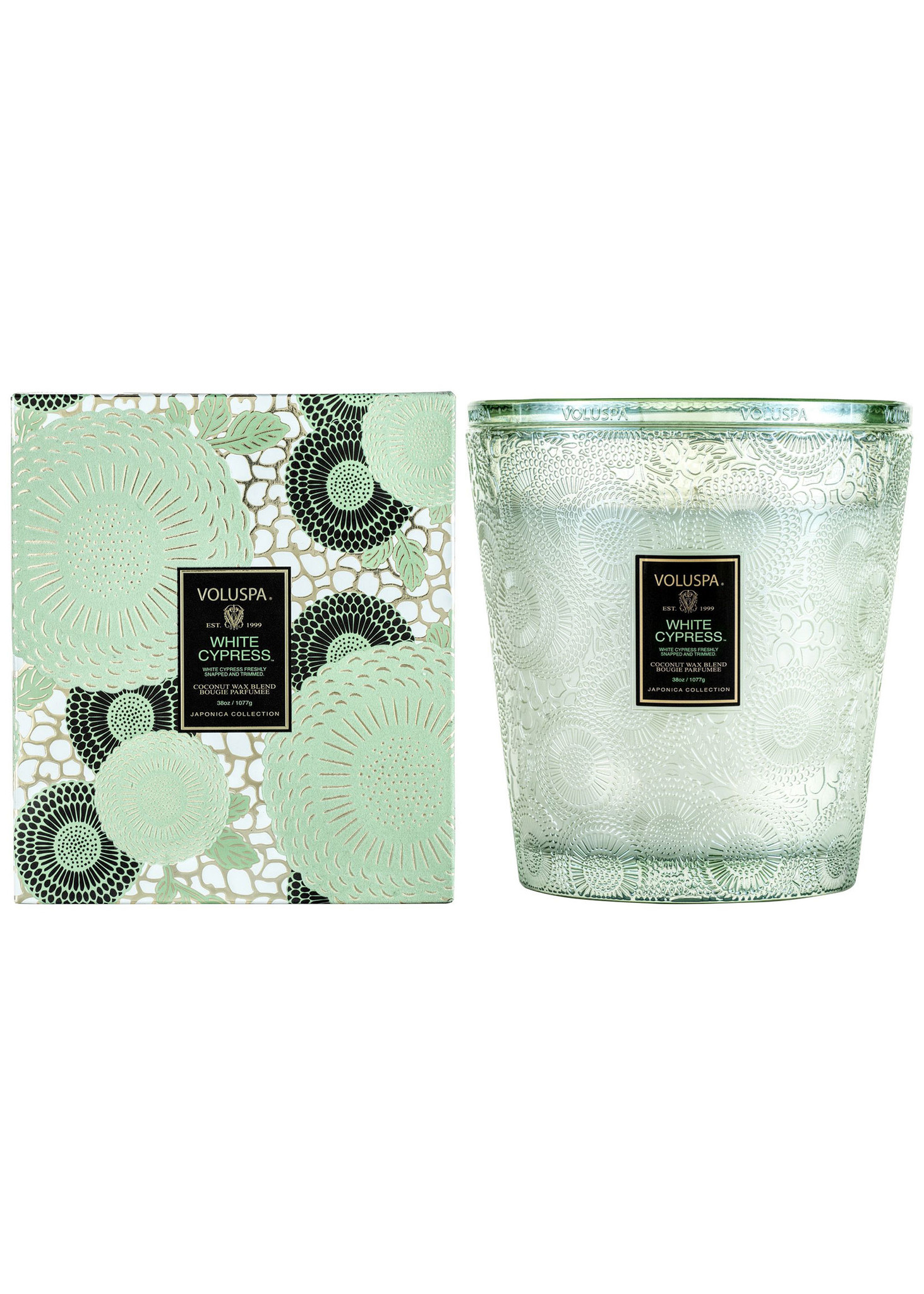 White Cypress 3 Wick Hearth Candle-3
