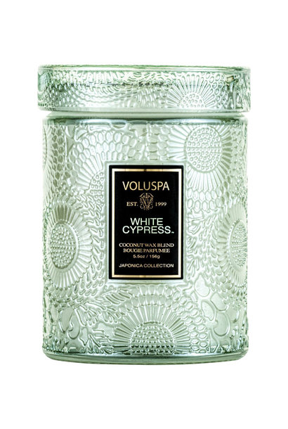 White Cypress Small Jar Candle