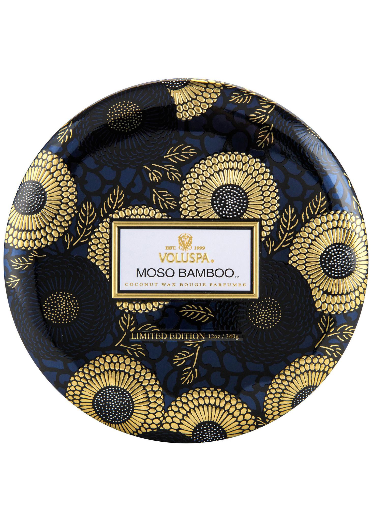 Moso Bamboo 3 Wick Tin Candle-4
