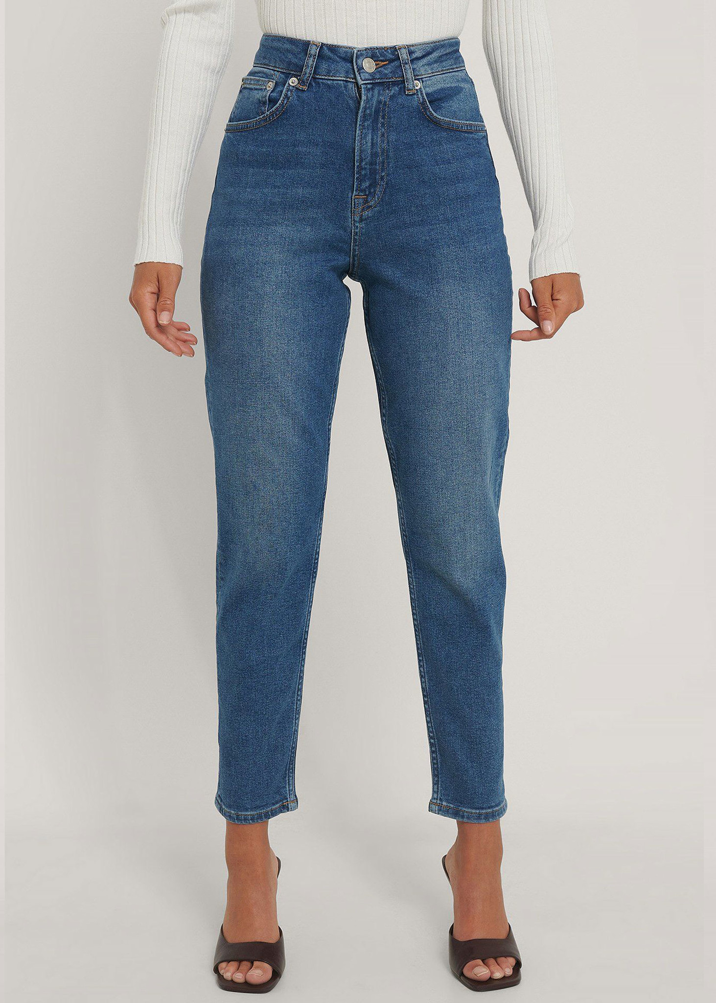 Comfort Mom Jeans Mid Blue-1
