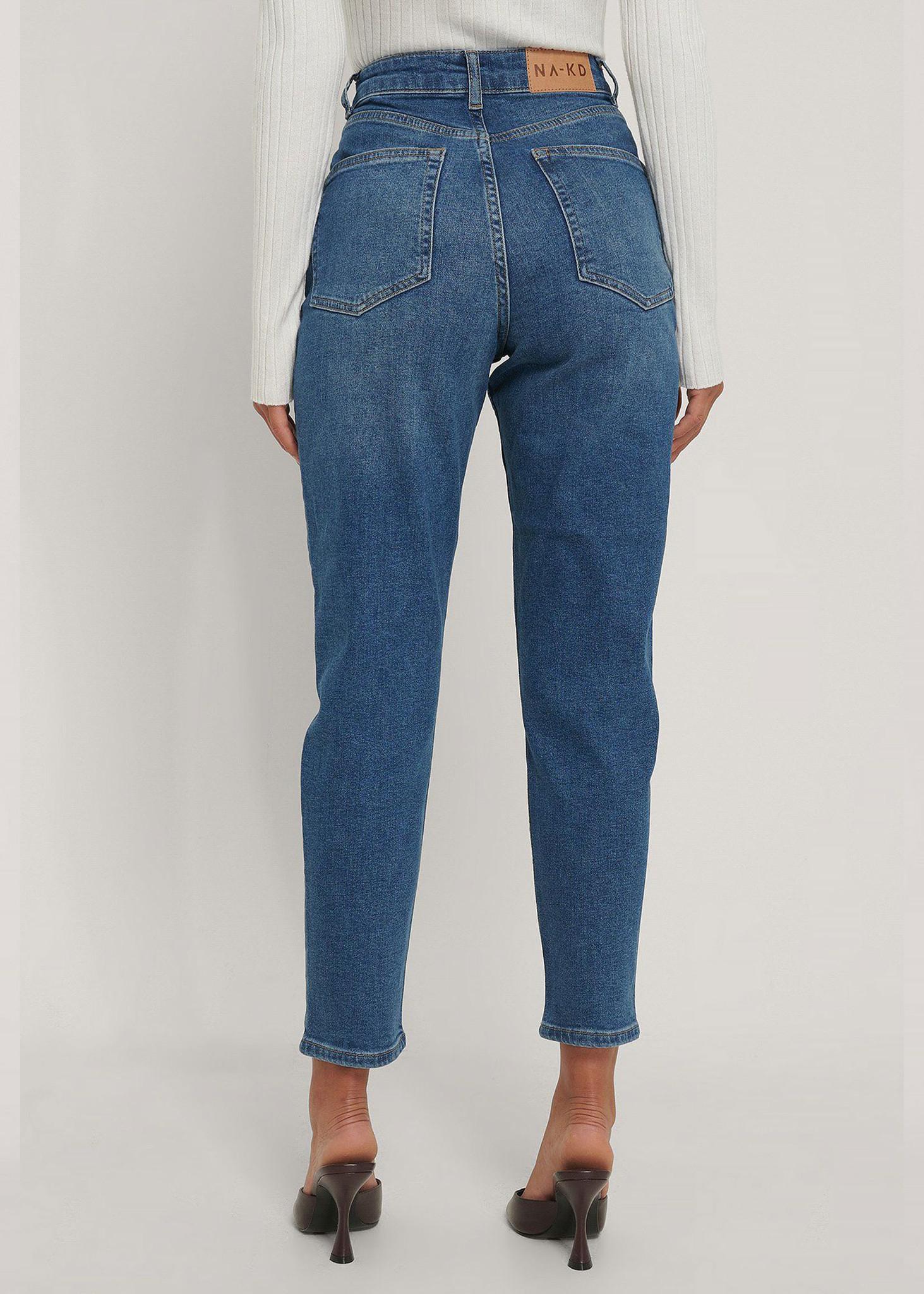 Comfort Mom Jeans Mid Blue-2