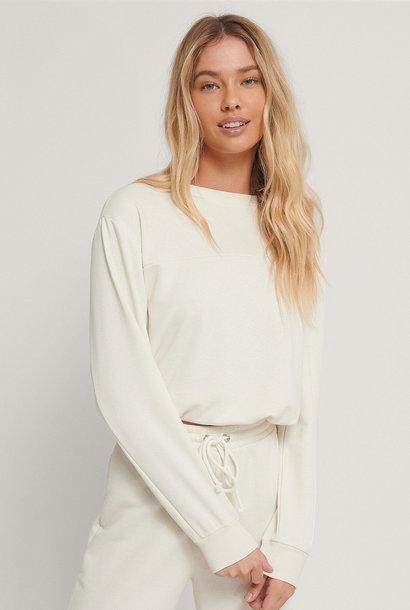 Cropped Drawstring Sweatshirt