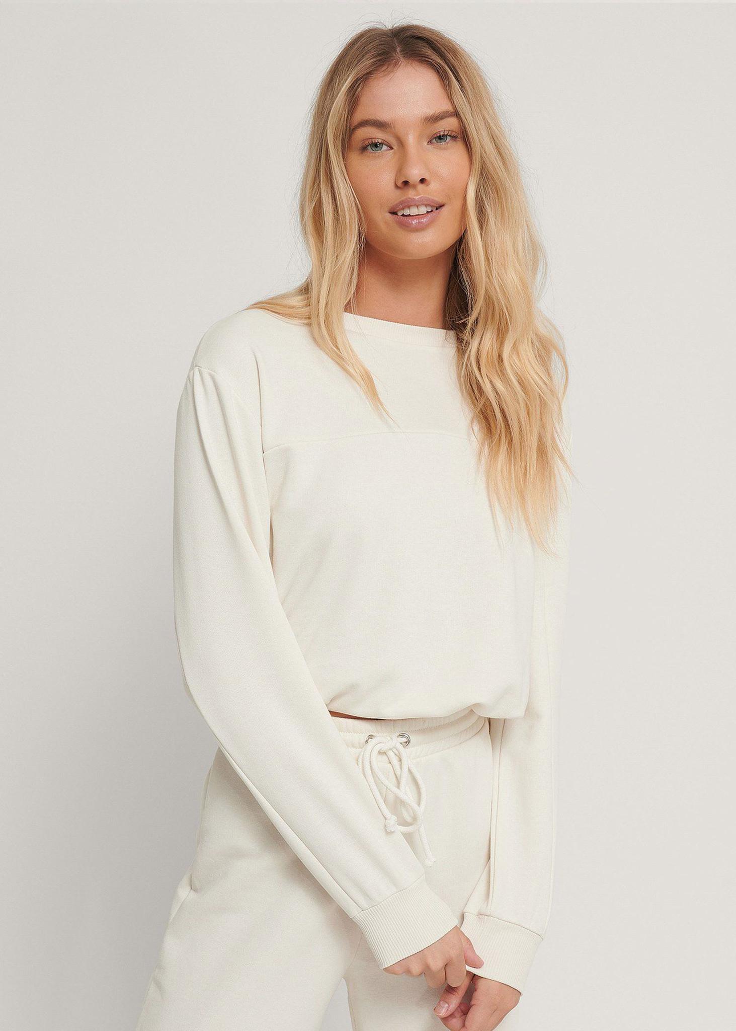 Cropped Drawstring Sweatshirt-1