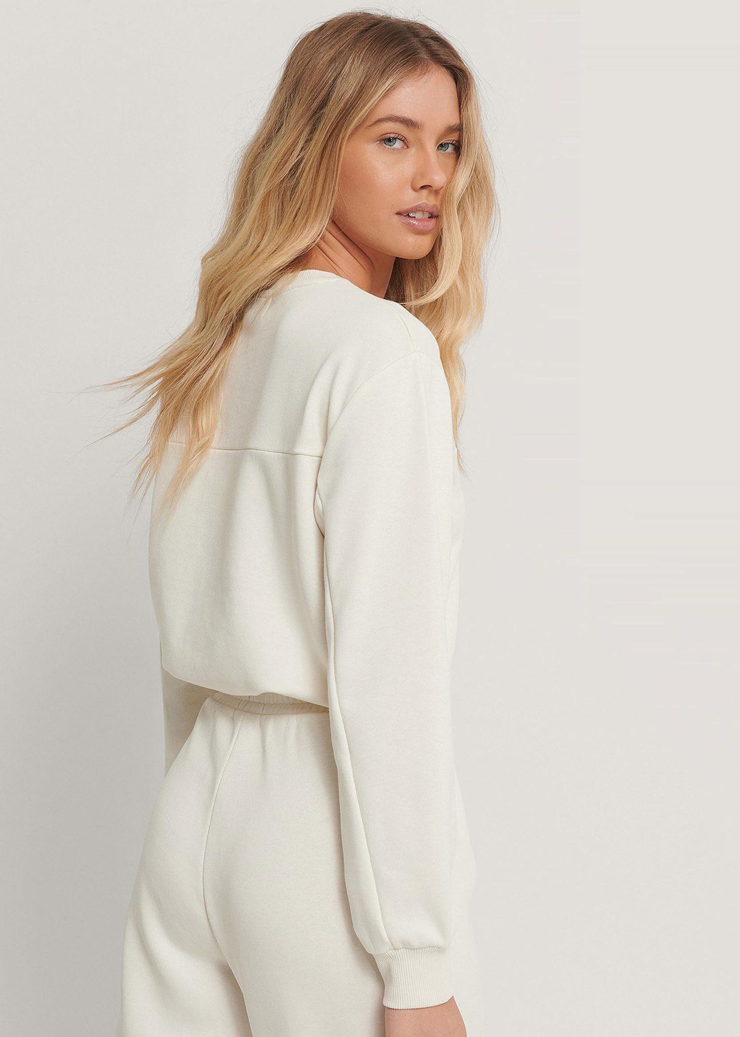 Cropped Drawstring Sweatshirt-2