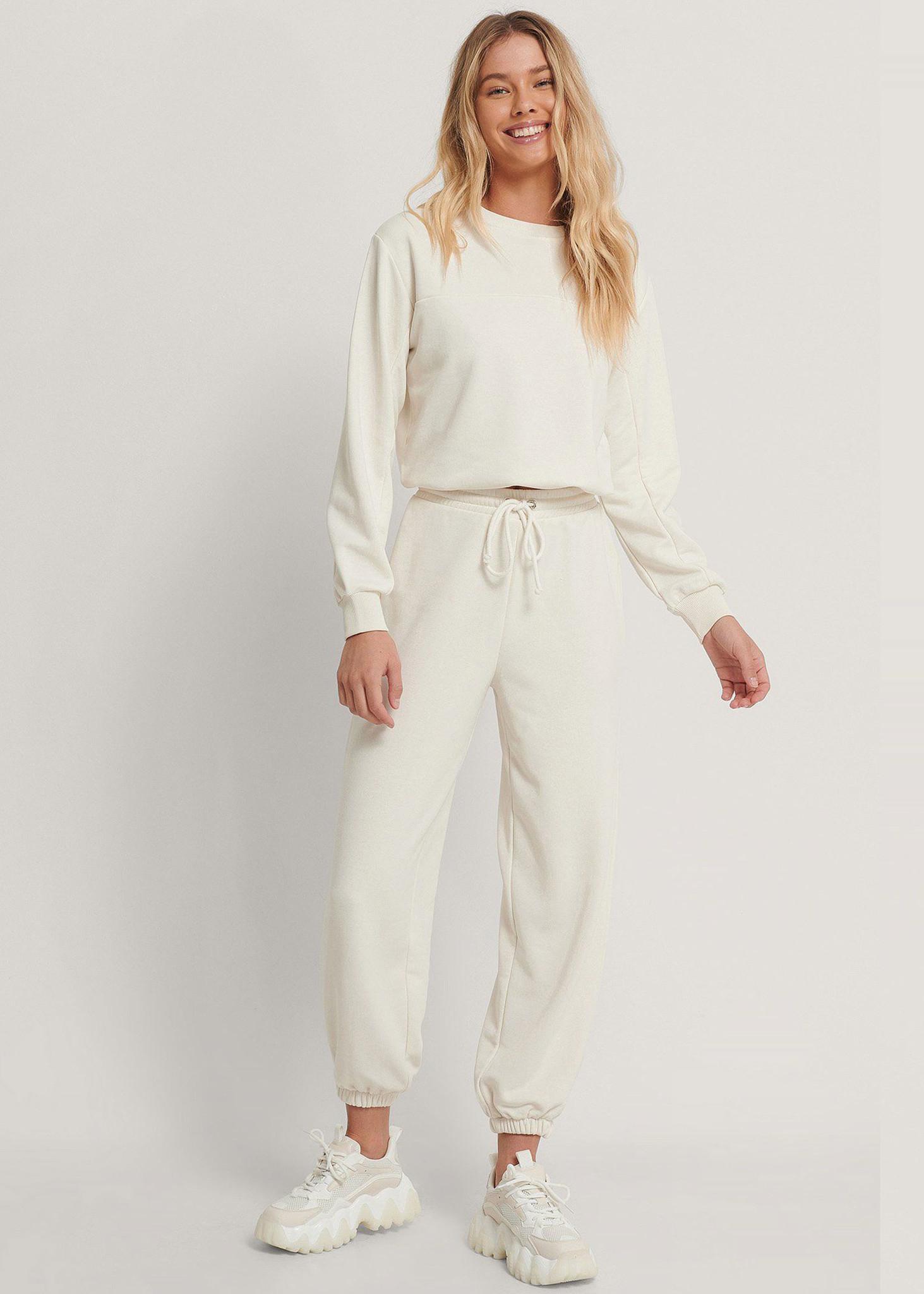 Drawstring elastic Sweatpants-1