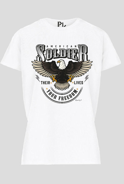 American T-Shirt Zwart Wit