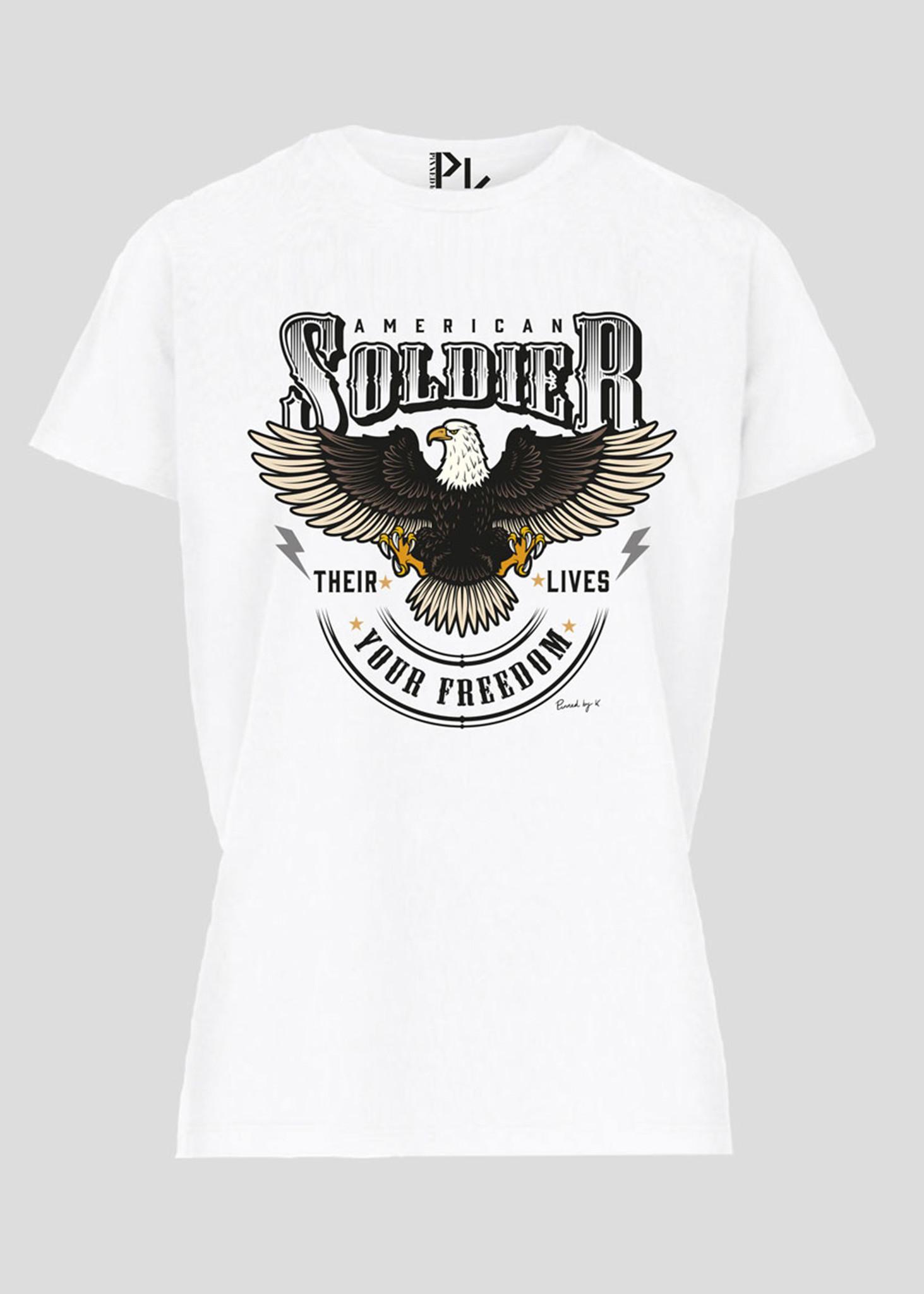 American T-Shirt Zwart Wit-1