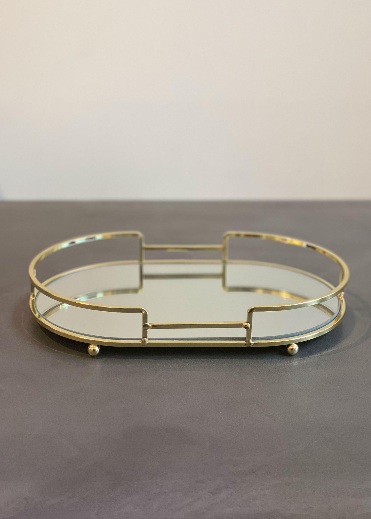 Golden Mirror Tray-1