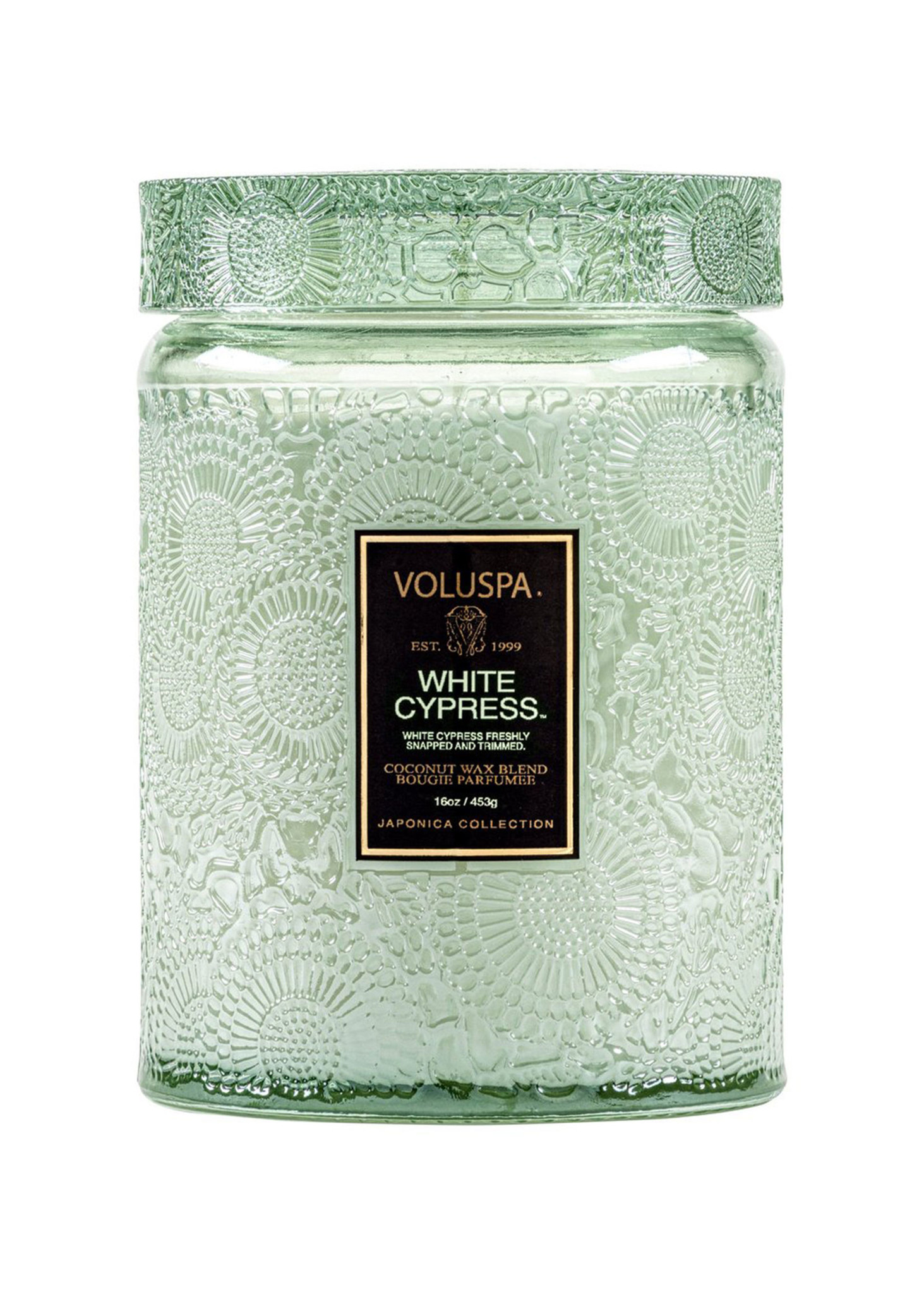 White Cypress Large Jar Candle-1