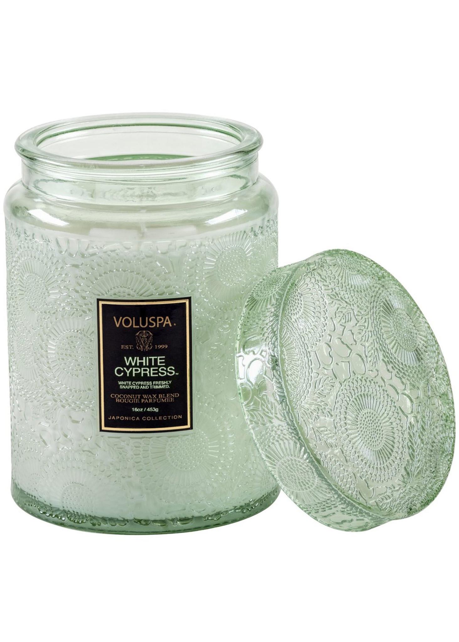 White Cypress Large Jar Candle-2