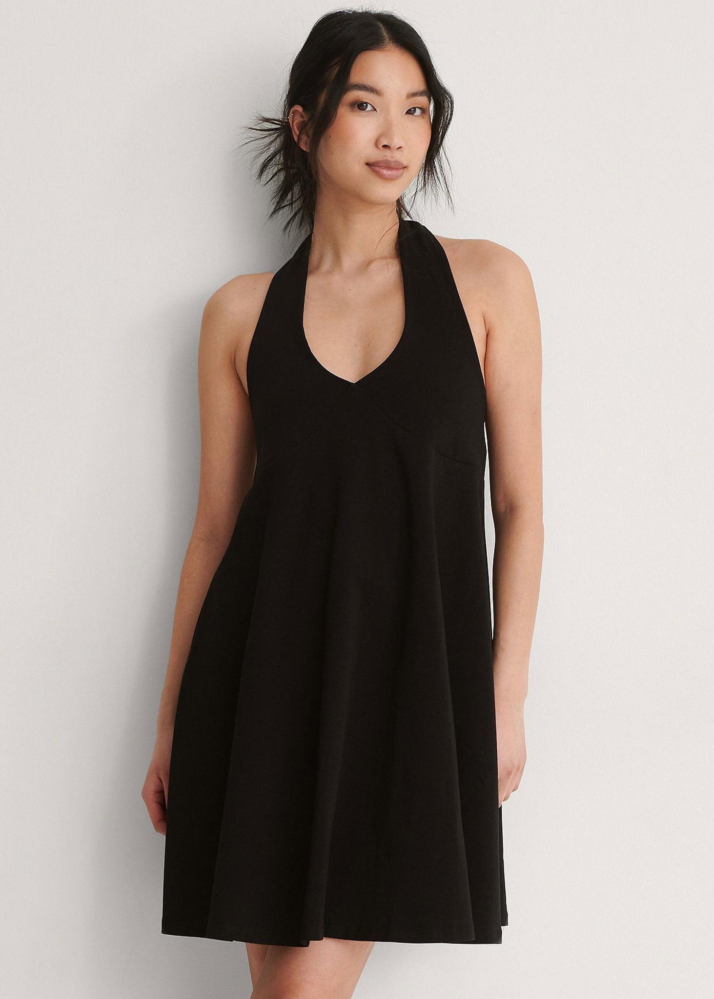 Halterneck Jersey Dress-1