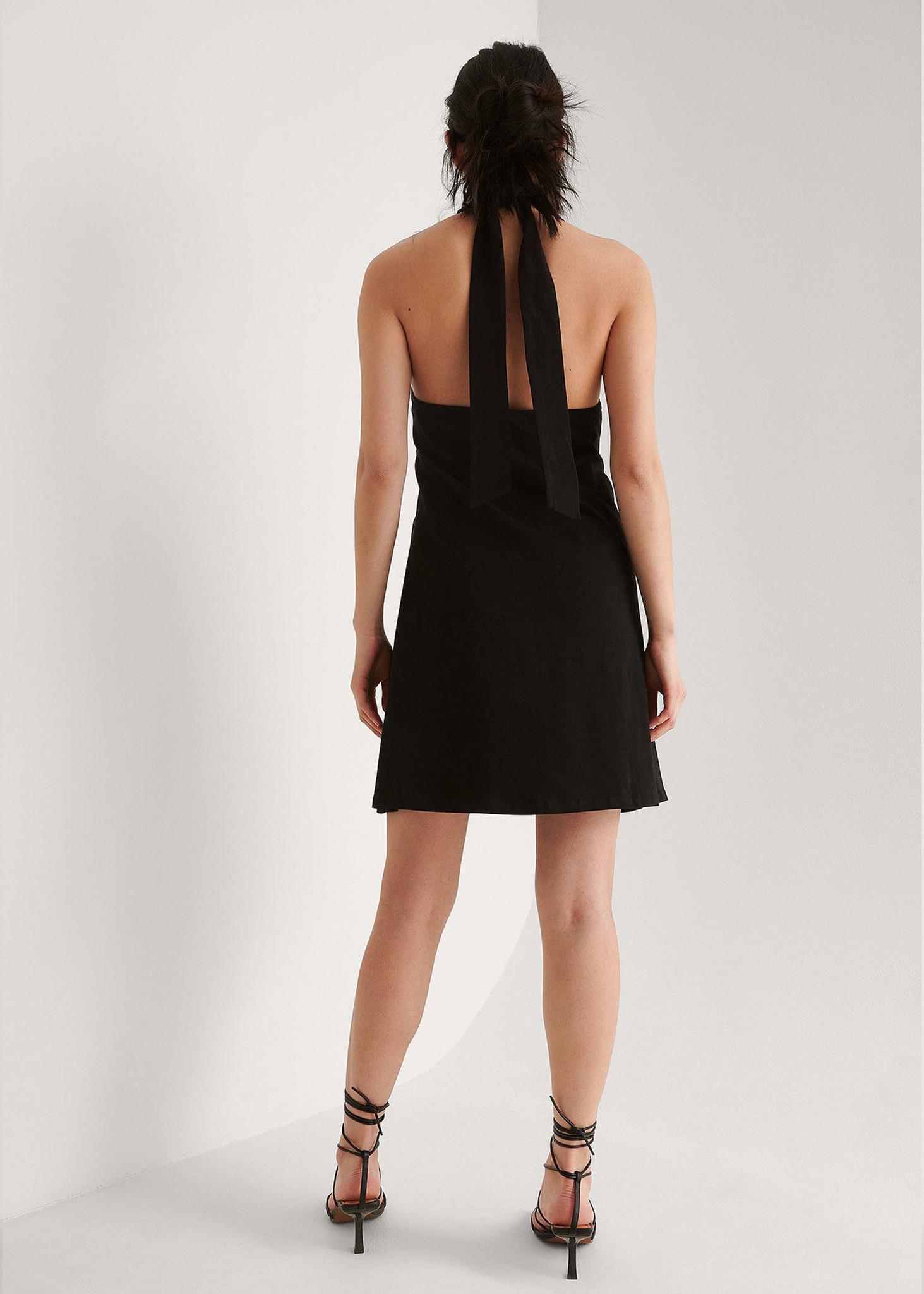 Halterneck Jersey Dress-2