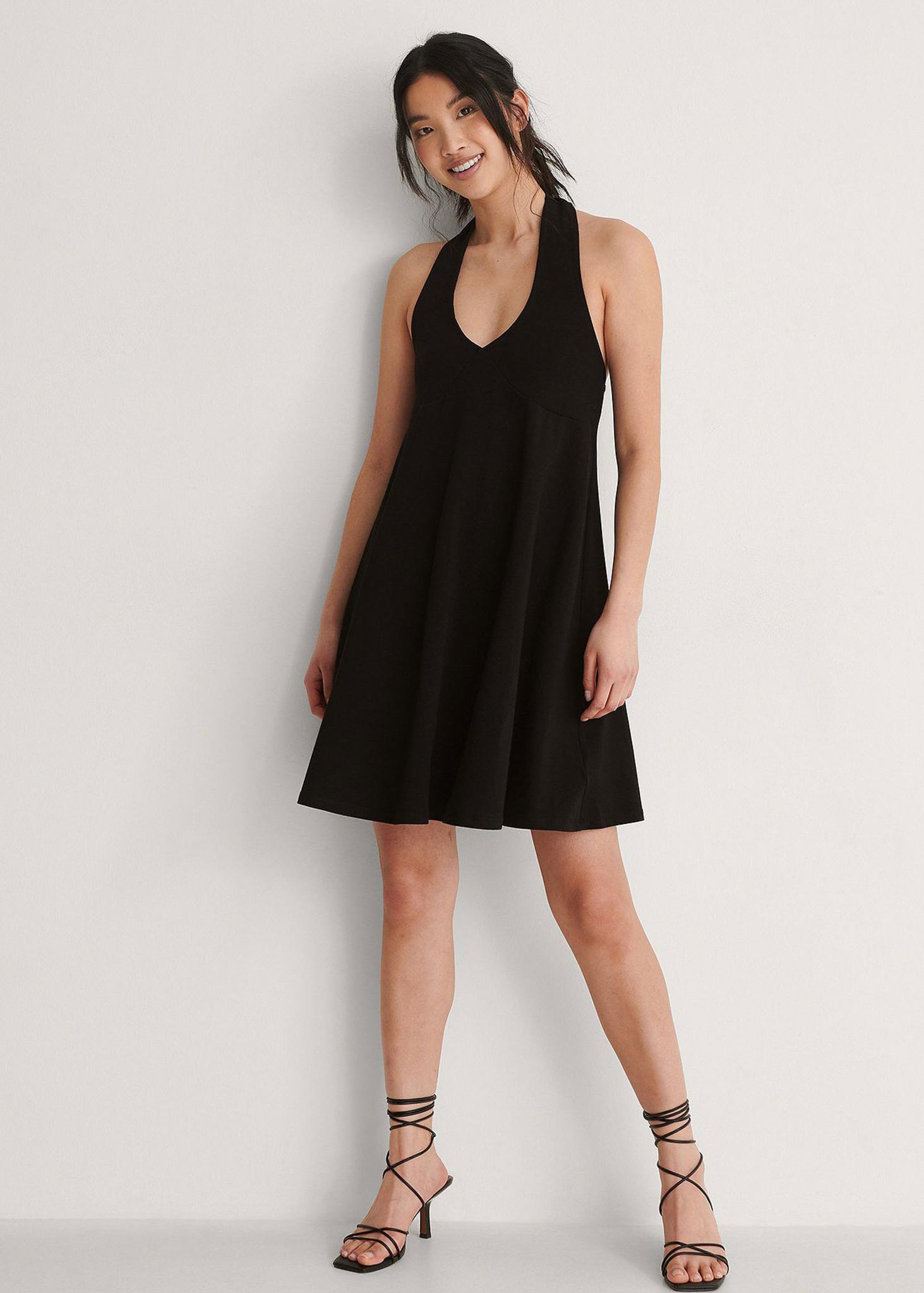 Halterneck Jersey Dress-3