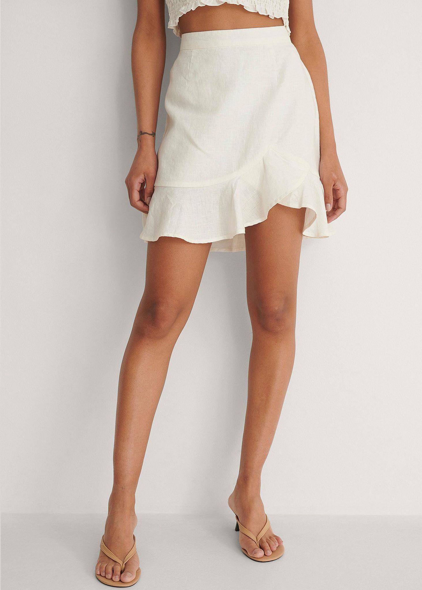 Bottom Flounce Mini Skirt-1
