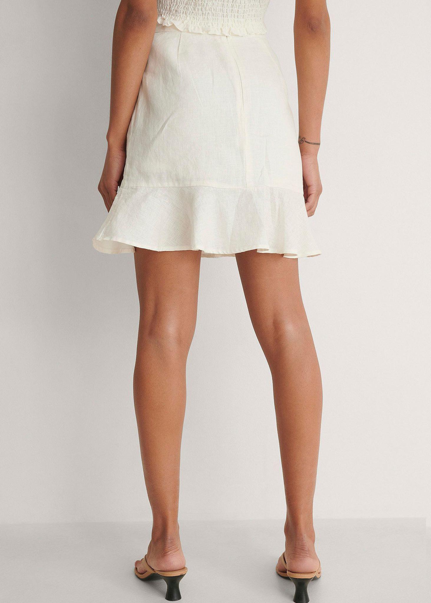Bottom Flounce Mini Skirt-2
