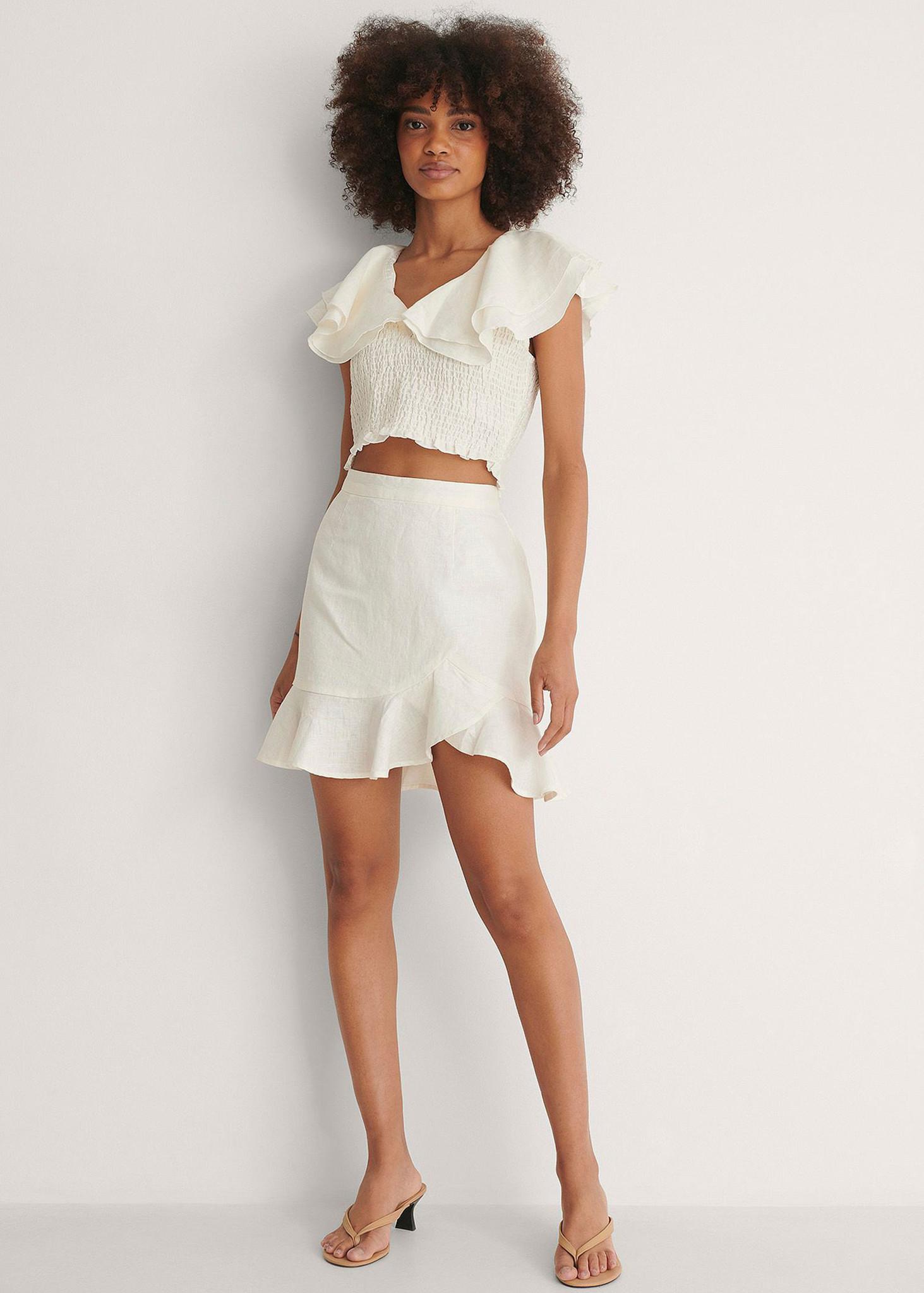 Bottom Flounce Mini Skirt-3