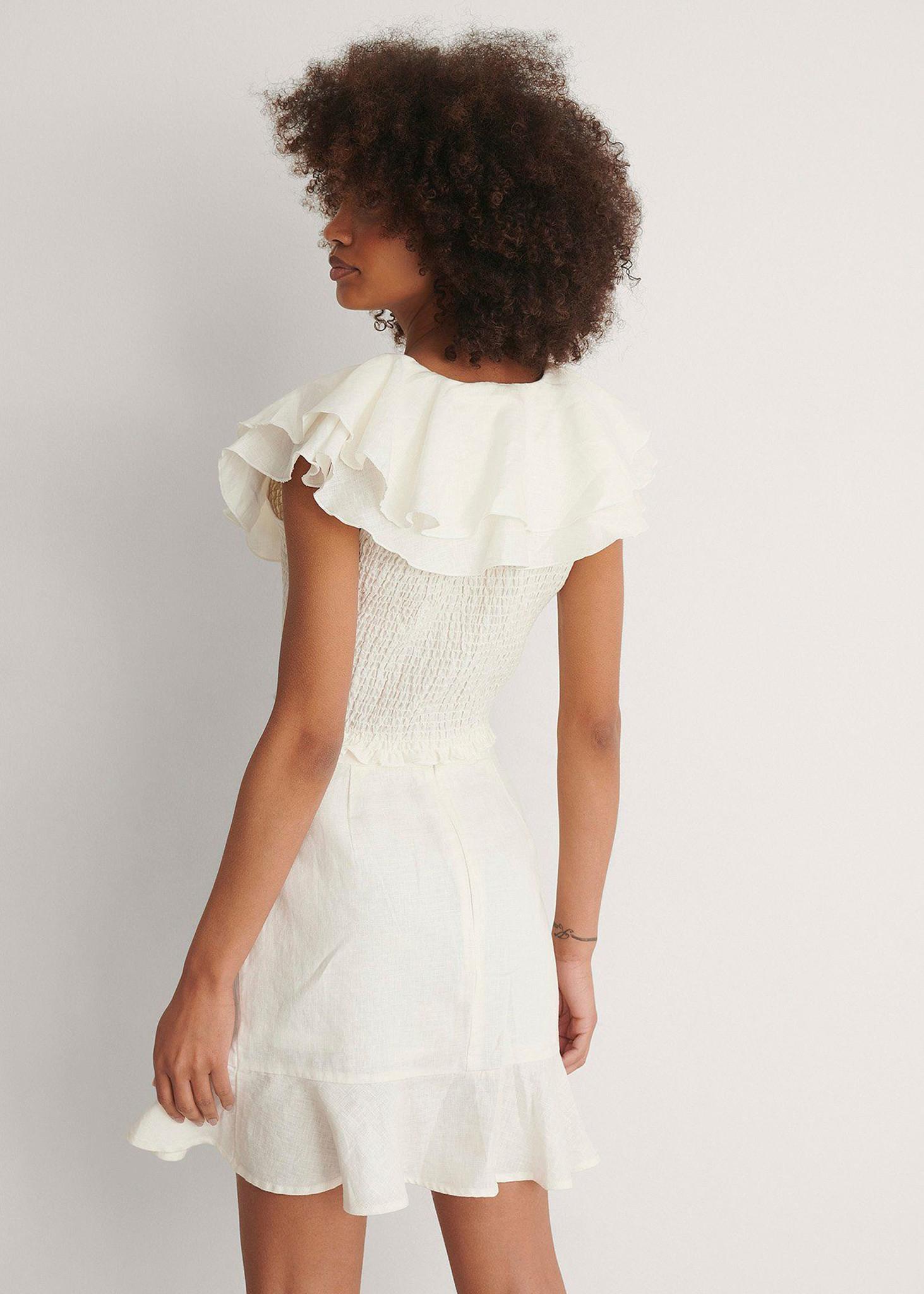 Bottom Flounce Mini Skirt-4