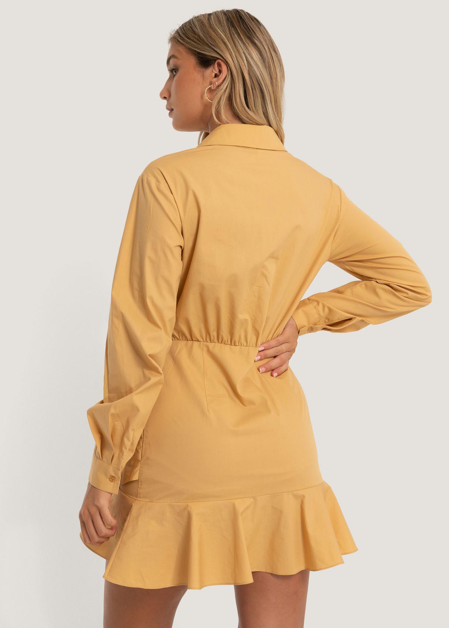 Shirt Flounce Dress-2