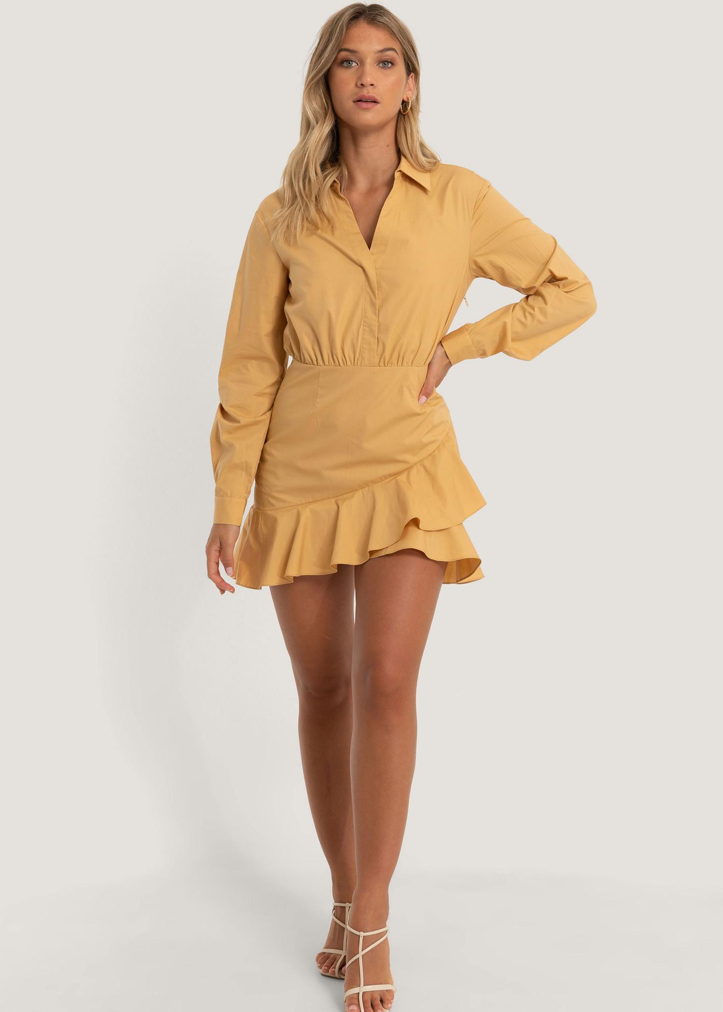Shirt Flounce Dress-3