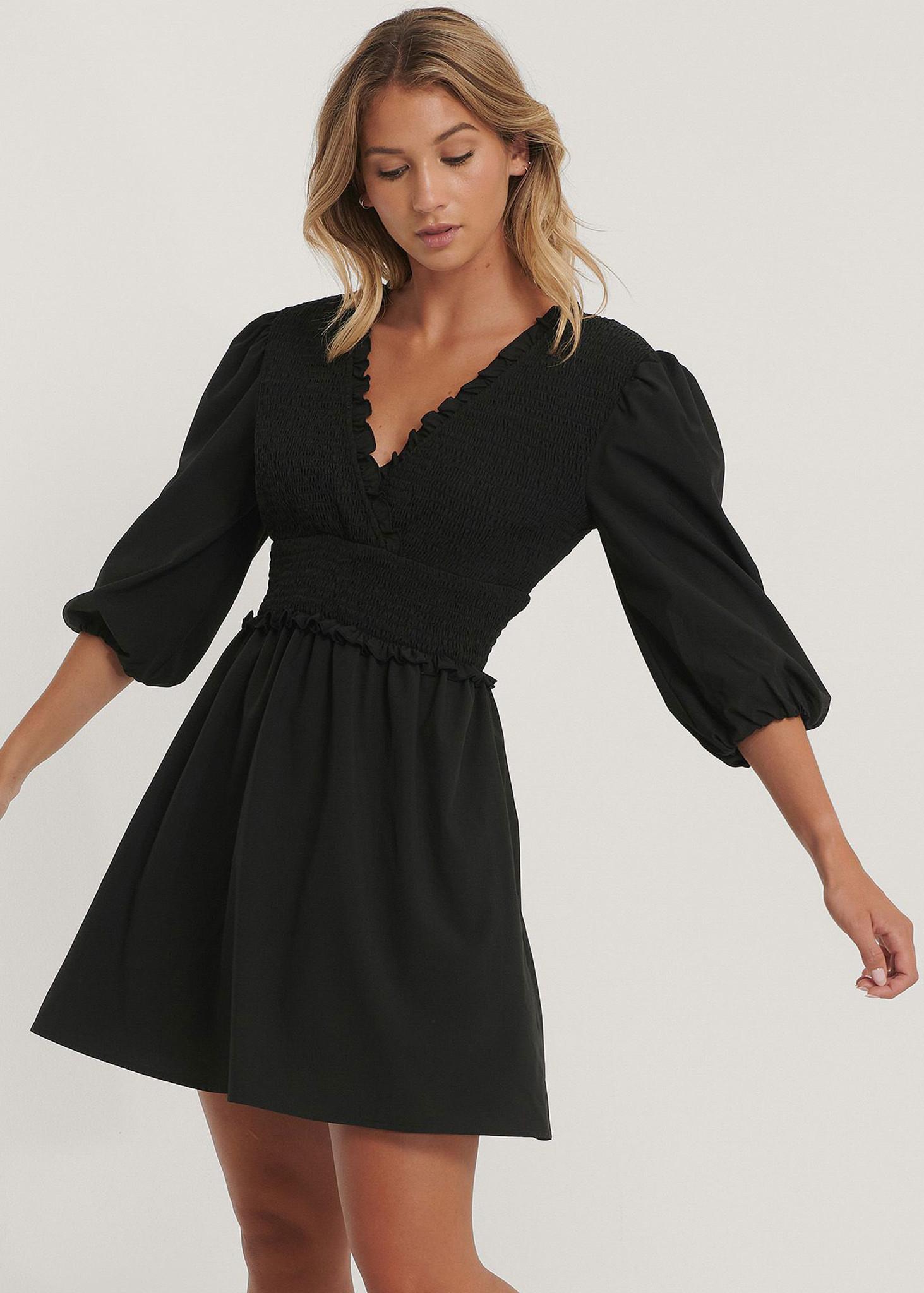 Smocked Mini Dress-1